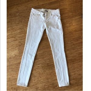 Garage Low Rise White Skinny Jeans